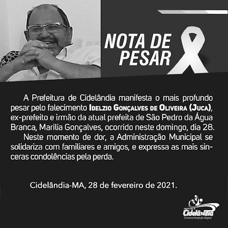 Fernando Teixeira manifesta profundo pesar pelo falecimento de Juca, ex prefeito de São Pedro Da Agua Branca!!!