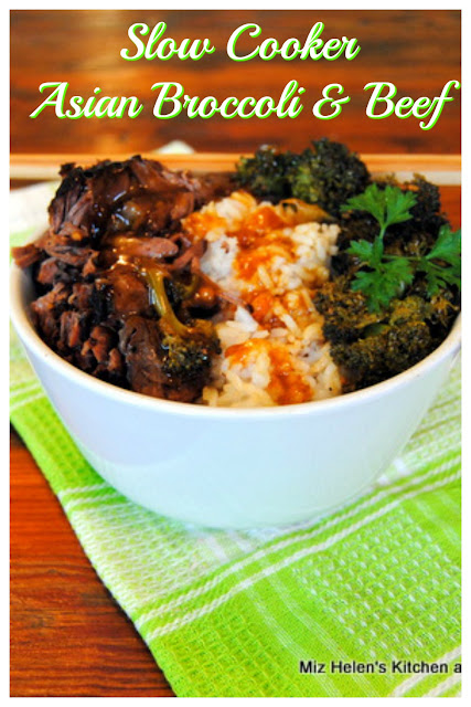 Slow Cooker Asian Broccoli and Beef at Miz Helen's Country Cottage
