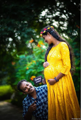 Indian Baby Shower Photo Pose