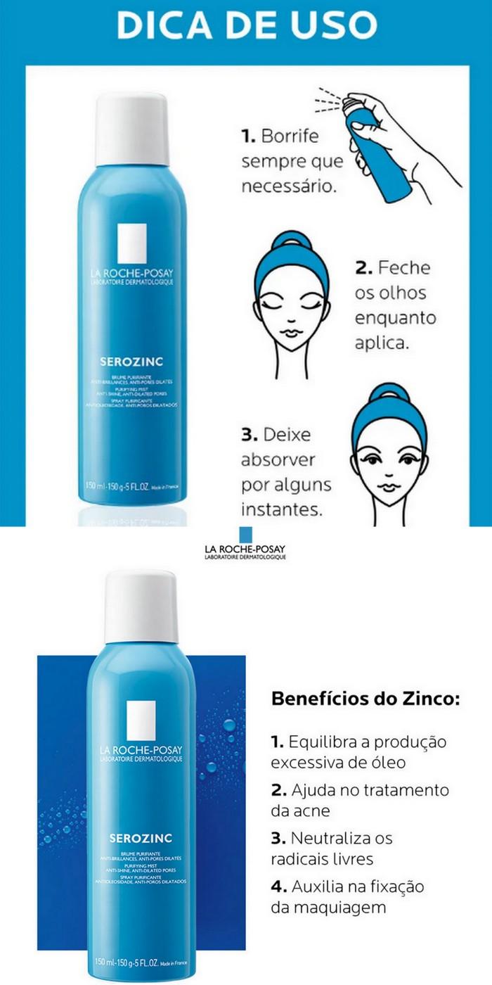 Benefícios e como usar Spray matificante Serozinc La Roche Posay