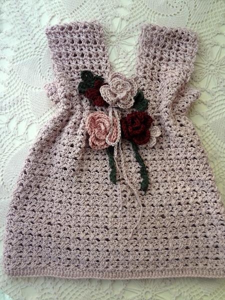 Violet Crochet Baby Dress