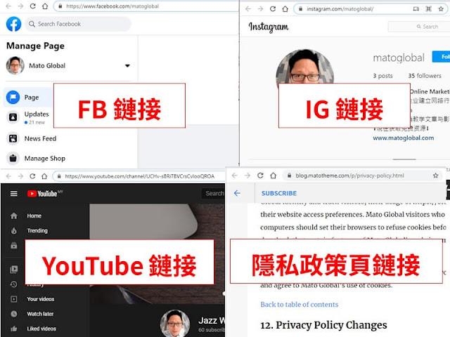 collect mato global social media url