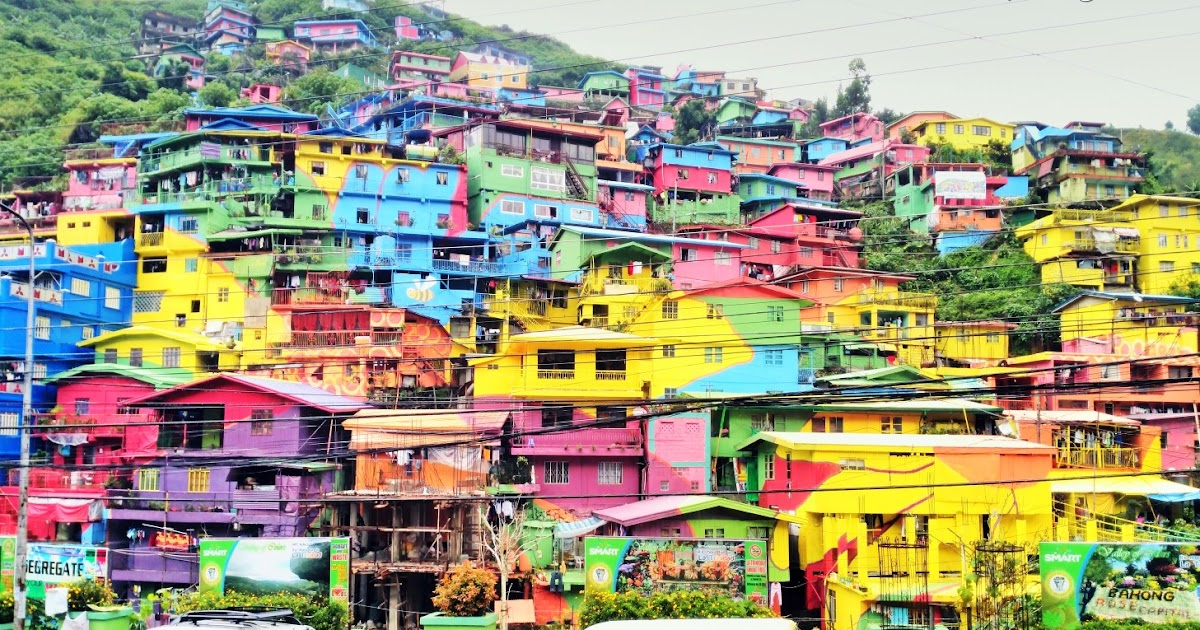 Image result for la trinidad benguet colorful houses