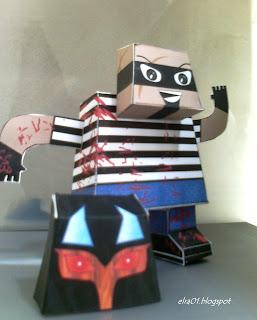 paper toy el rudo