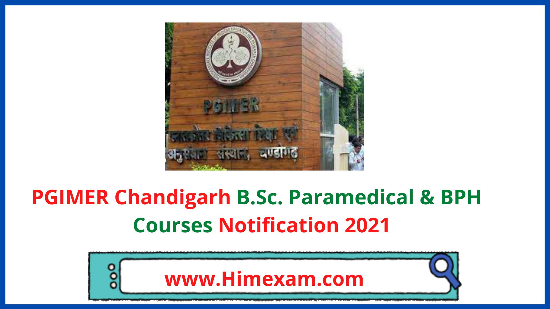 PGIMER Chandigarh Admission Notification 2021