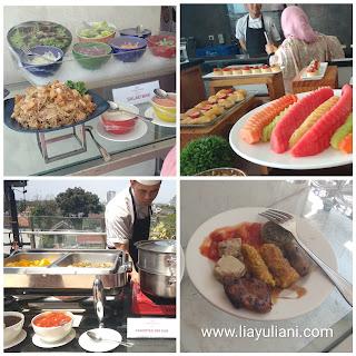 Menu yang variatif dan lezat di Crowne Plaza Bandung