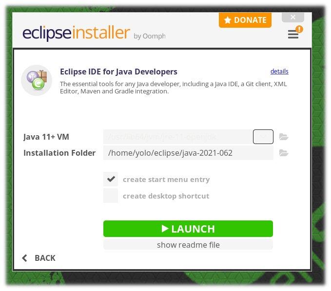 Εκκίνηση του Eclipse