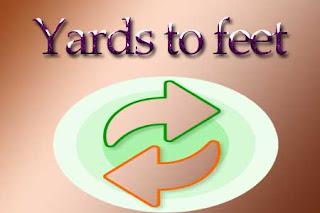 Yards to feet