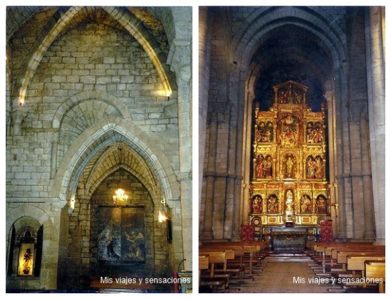Interior iglesia de Santa María, Sangüesa, Navarra