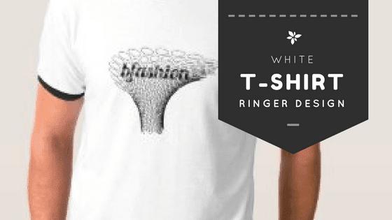 White Ringer T-Shirt: Amazing Vintage Design for Sale