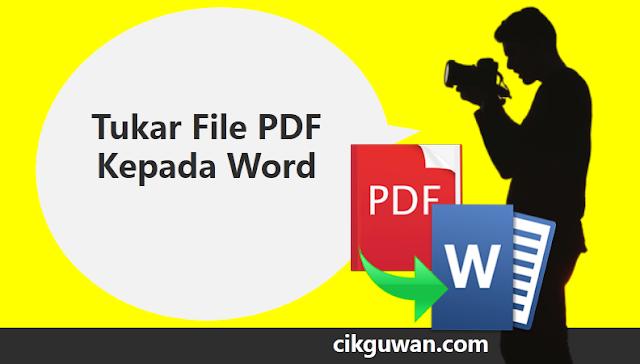 pdf kepada word