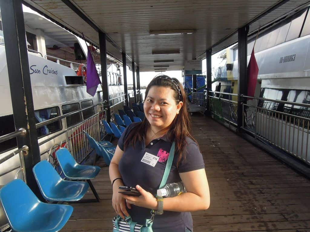 At the port before boarding the ferry bound for Corregidor Island