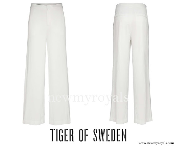 Princess Sofia Hellqvist wore Tiger of Sweden Juanz Trouser
