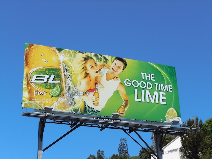 Bud Light Lime good time billboard