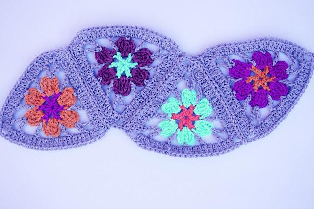 3 - Crochet Imagen Puntada de triangulos flores a crochet y ganchillo por Majovel Crochet