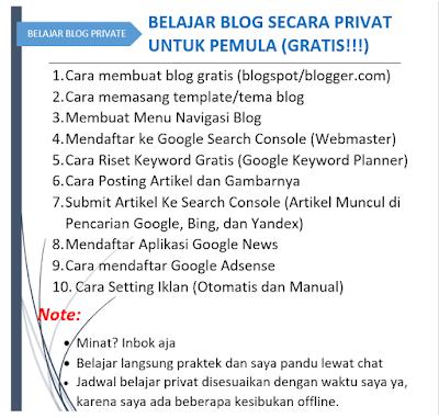 Belajar membuat blog secara private bagi pemula (GRATIS)
