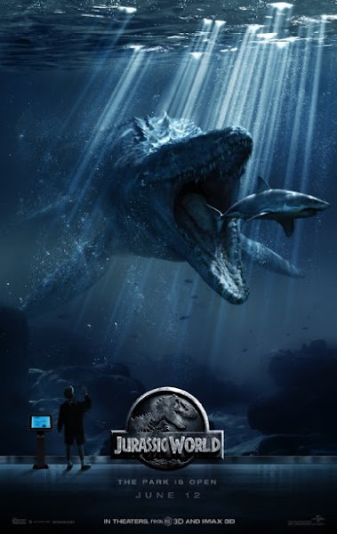 Poster Of Jurassic World 2015 720p BluRay Dual Audio