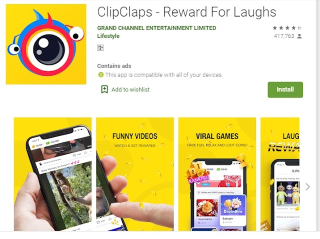 Join ClipClaps..Watch Funny Videos..Earn $1 Instantly