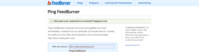 The Google Offered Feedburner ping service itself.