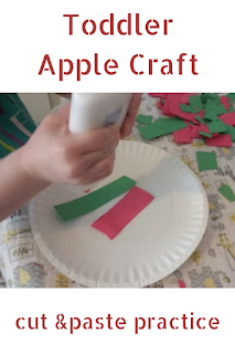 Toddler Apple Craft: cut & paste practice