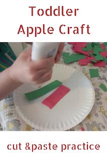 Toddler Apple Craft: cut & paste practice
