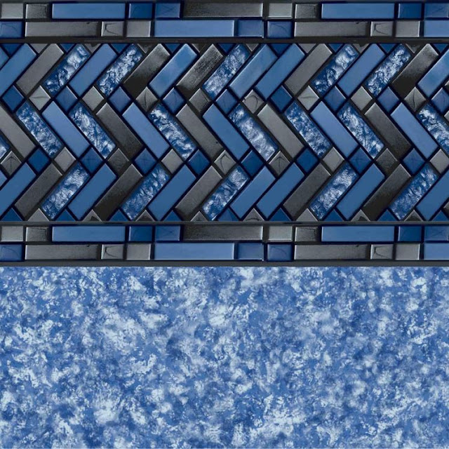 Adesivo para Piscina Rolo Faixa C/ 1 Metro X 15CM Design Tribeca - PS012