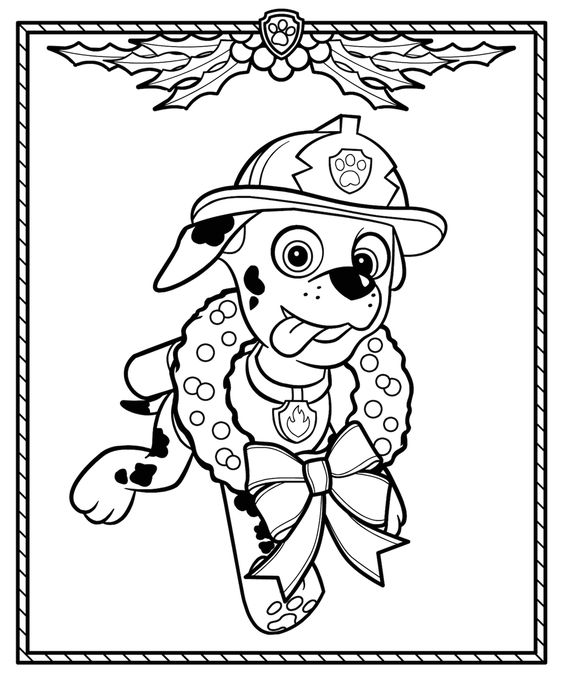 Paw patrol coloring pages 7