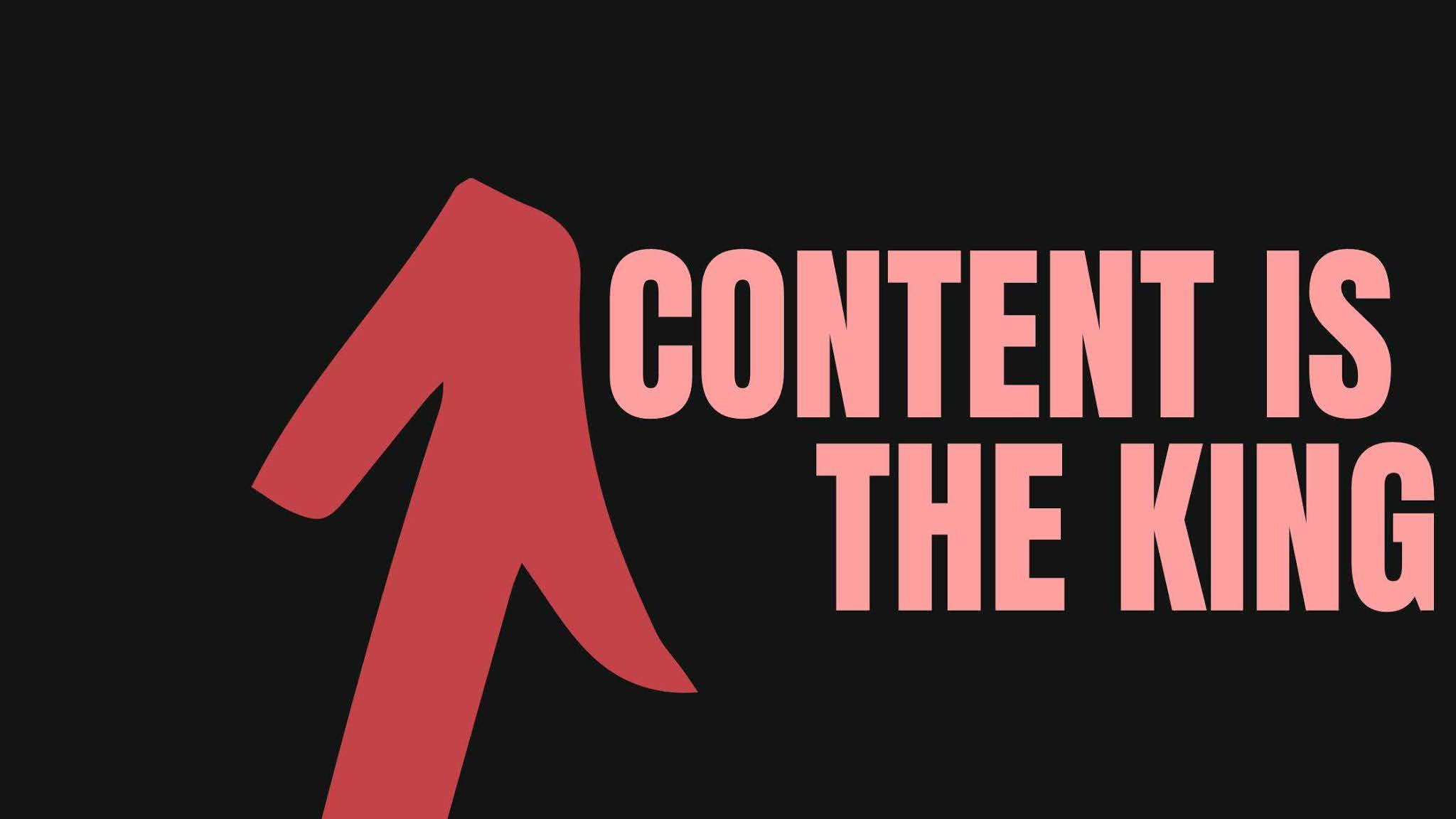 Content is the king adalah kunci blogging