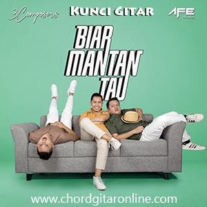 Chord Kunci Gitar Biar Mantan Tau by 3 Composers