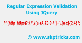 Regular expression validation using JQuery