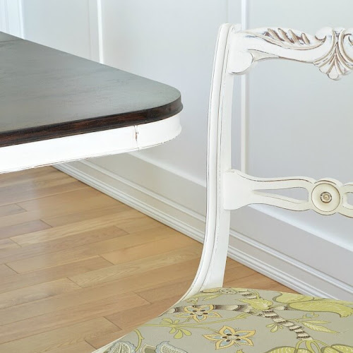 Duncan Phyfe Dining Chair Set Makeover