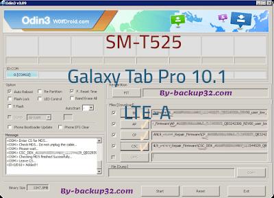 سوفت وير هاتف Galaxy Tab Pro 10.1 LTE-A موديل SM-T525 روم الاصلاح 4 ملفات تحميل مباشر