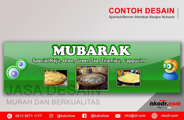 Contoh Desain Banner / Neon Box / Spanduk Martabak Bangka