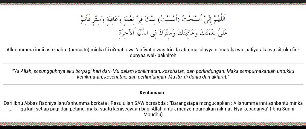 Inilah 7 Keutamaan dan Manfaat Membaca Doa Al Ma'tsurat