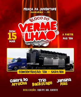 Bloco Vermelhão encerra Carnaval de GBA e sai às ruas no domingo, dia 15 de março
