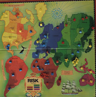 risk board during a game