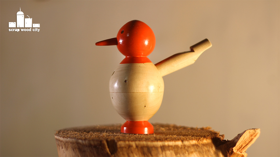 scrap wood city: How to make a toy bird whistle on the wood lathe