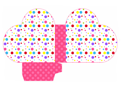 Colored Dots for Girls Heart Shaped Open Box.