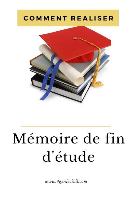 comment rediger un bon memoire de fin d'etude