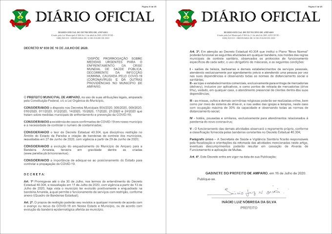 Prefeitura de Amparo publica novo decreto com medidas de prevenção a disseminação do Coronavírus