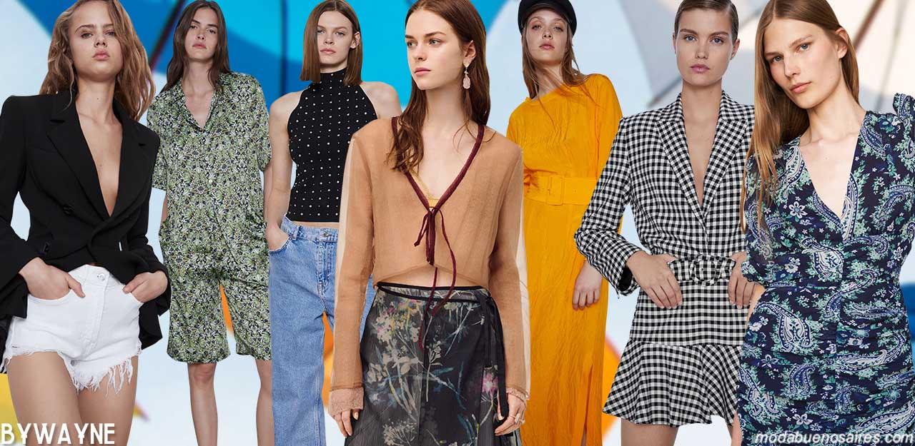 Moda verano 2021 ropa de mujer primavera verano 2021