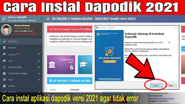 Foto Dashboard Aplikasi Dapodik 2021