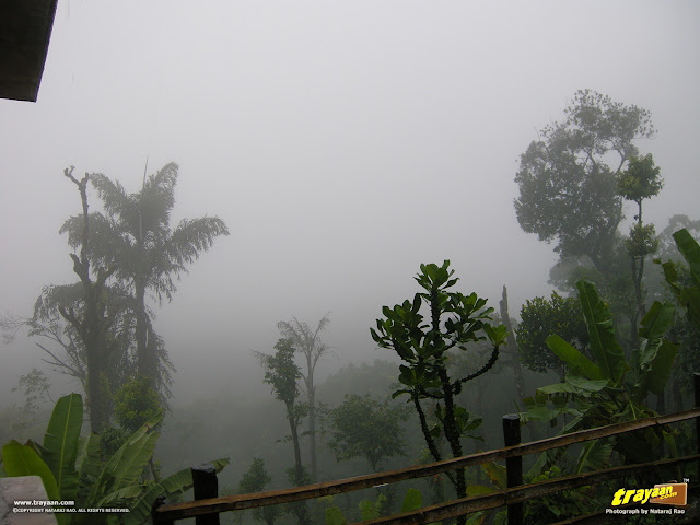 A rainy day in Bhagamandala at Coorg, Kodagu district, Karnataka