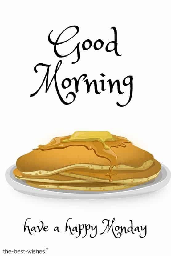 happy monday images with pancake hd download