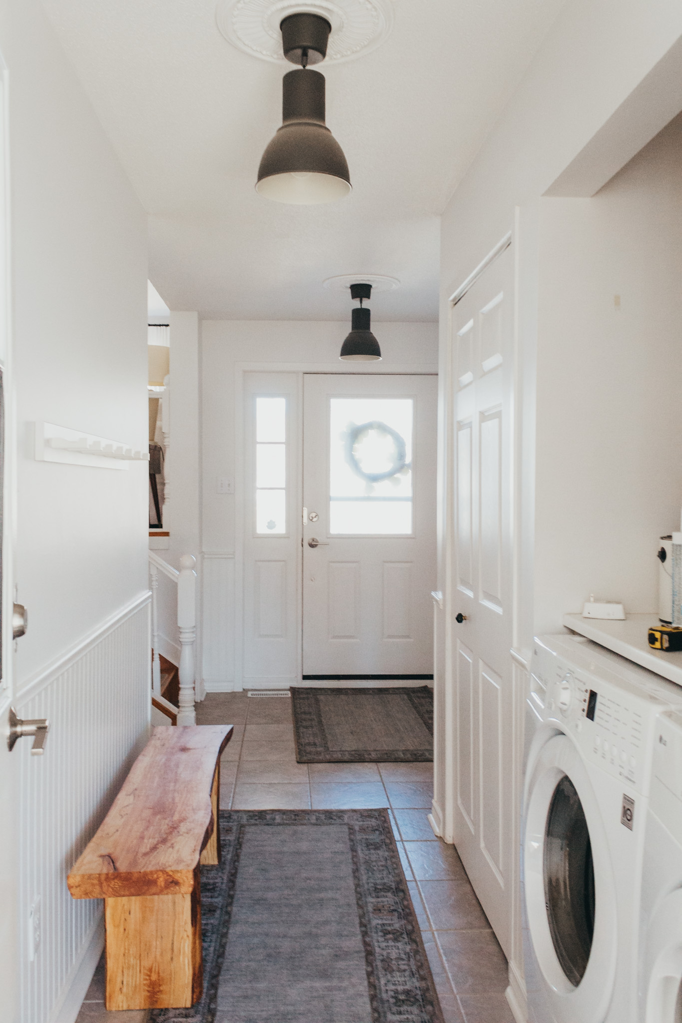 Laundry room in entryway