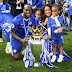 Victor Moses shares photo of him celebrating Chelsea's victory with his family