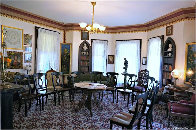 Salita de la Casa Museo de Harriet Beecher Stowe en Hartford, Connecticut