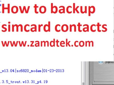 How to backup your contacts