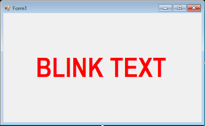 Cara Membuat Blink Text (Teks Berkedip) di VB.Net