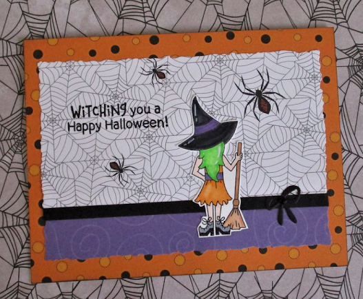 Witching you a Happy Halloween by Becca features Brooms & Boos by Newton's Nook Designs; #inkypaws, #halloweencards, #newtonsnook, #cardmaking